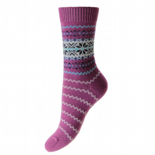 Ladies Cashmere Socks - Nordic - Damson